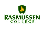 Logo of Rasmussen for our ranking of online associate's graphic design