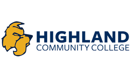 Logo of Highland Community College for our ranking of cheapest online associate's degrees