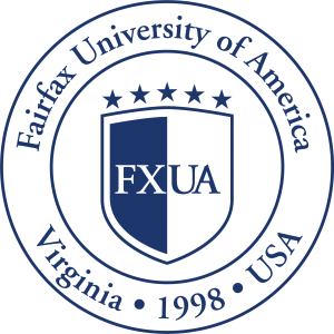 Logo of Fairfax University of America for our ranking of Tiny Colleges
