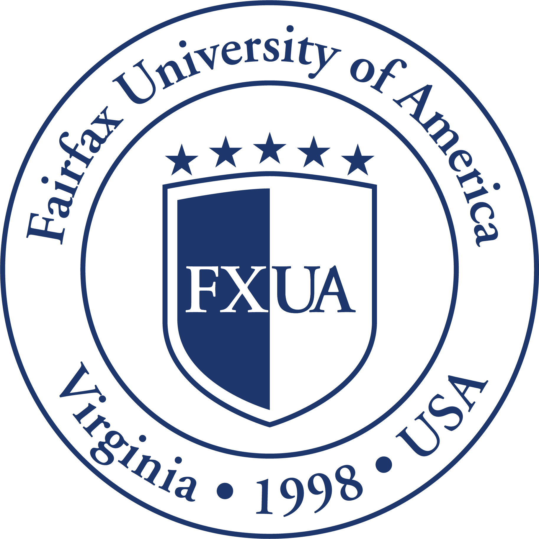 Logo for our profile of Fairfax University of America