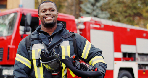 An image of a firefighter in our list of 5 Great Careers in Fire Science
