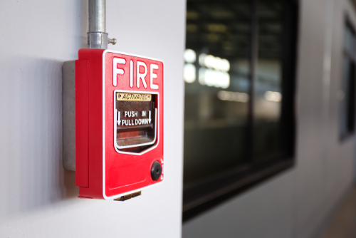 Image of a fire alarm for our article on fire science