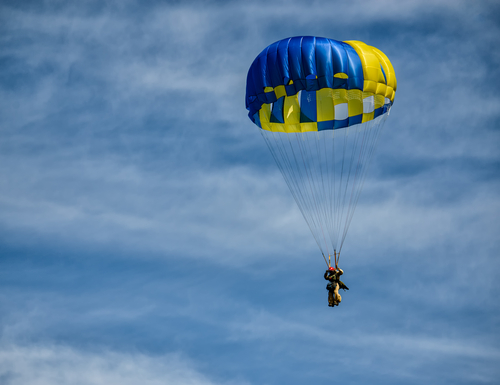 Image of a parachute for our article on fire science