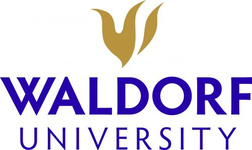 Logo of Waldorf University for our ranking of best associate's in occupational health and safety