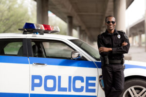 Image of police officer for our ranking of highest paying associate's degrees