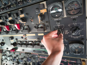 Image of airplane cockpit for our ranking of highest paying associate's degrees