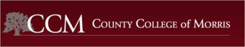 Logo for County College of Morris for our ranking of public health associate's