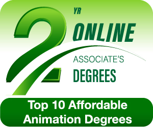 Badge for our ranking of Affordable Animation Degrees