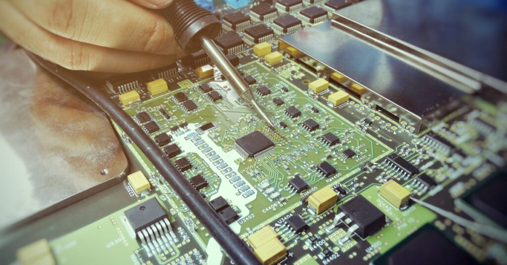 Image of electronic board for our ranking of top online trade schools