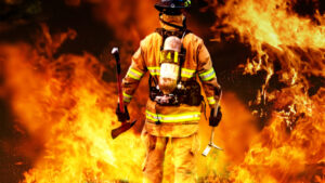 Image of firefighter for our article on fire science