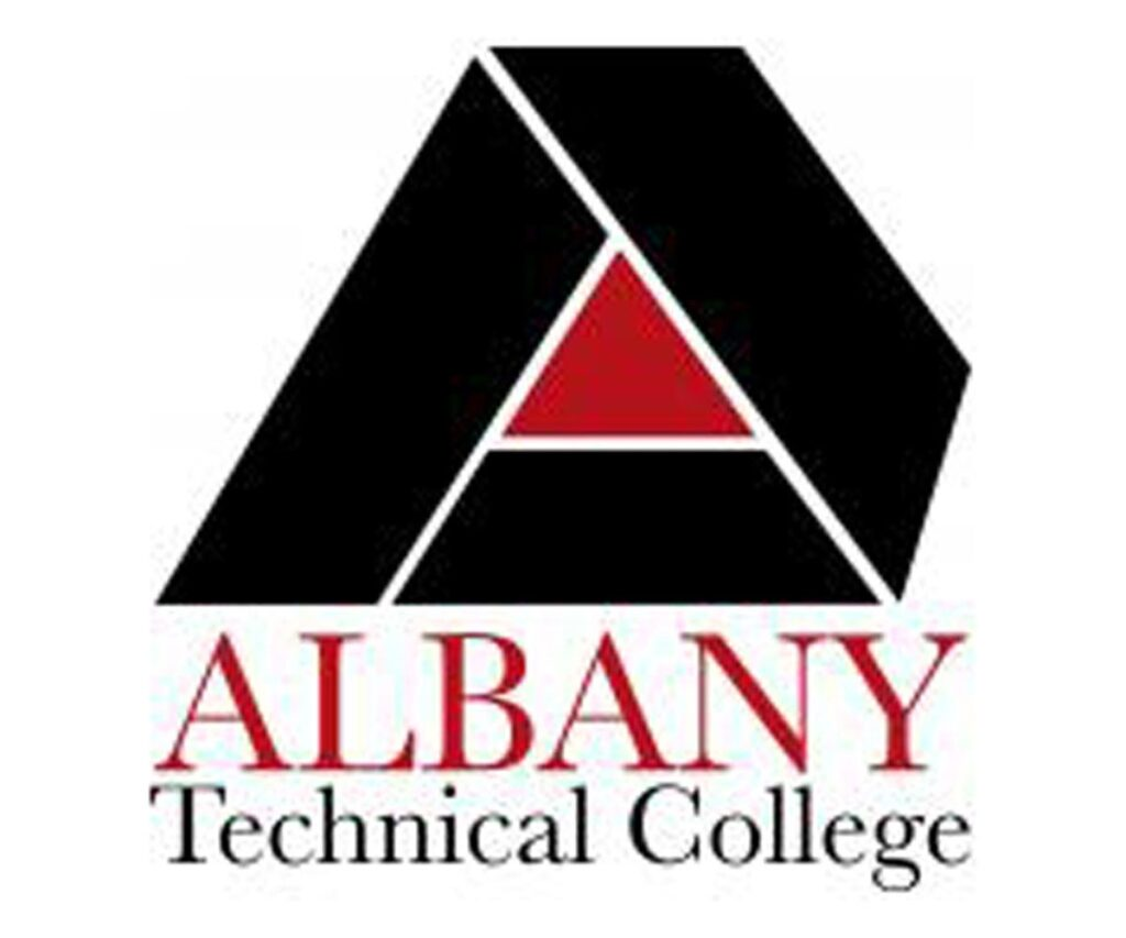 This image shows the logo for Albany Technical College for our ranking of affordable online fire science associate's degrees.