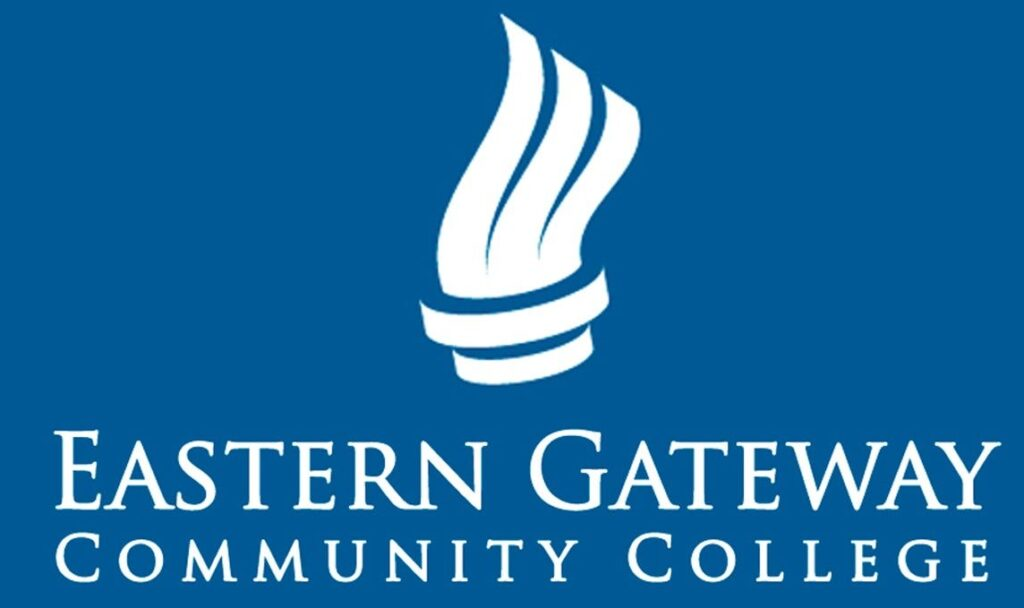 This image shows the logo for Eastern Gateway Community College for our ranking of affordable online fire science associate's degrees.
