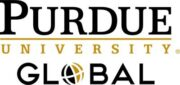 This image shows the logo for Purdue University Global for our ranking of affordable online fire science associate's degrees.